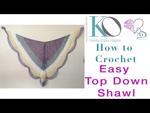 Lacy Cake Easy Crochet Shawl Top Down Triangle Shawl Youtube
