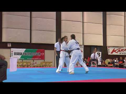 Aleksandra Matysiak vs. Anastasiia Khripunova. 32 European Weight Category Karate Championships