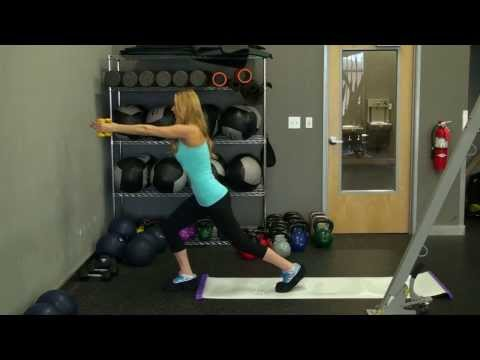 Doing Lunges with a Glideboard | Marzia Prince