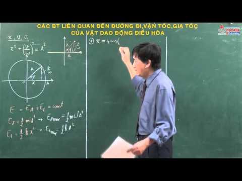 Vật lý 12 sgk - Dao động điều hòa - Đường đi - Vận tốc - Gia tốc - Cadasa.vn