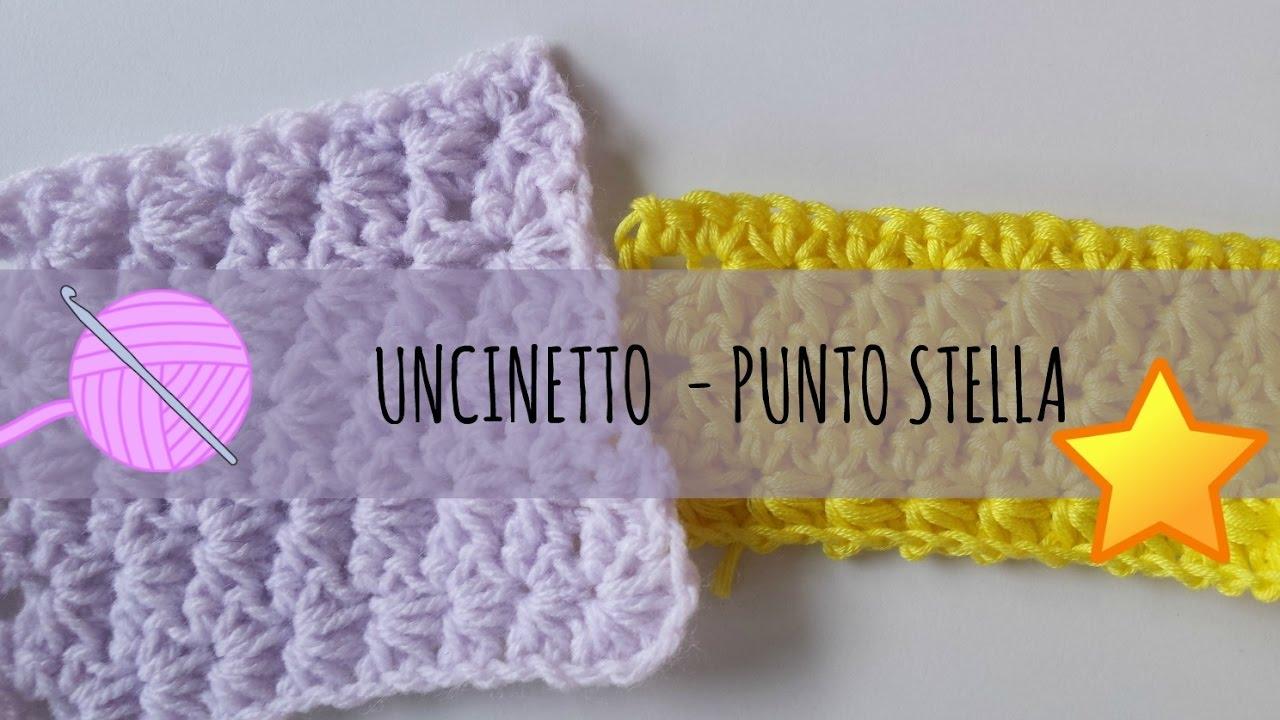 Uncinetto Punto Stella.Tutorial Uncinetto Punto Stella Crochet Star Stitch Con Dmc Baby Hug Youtube