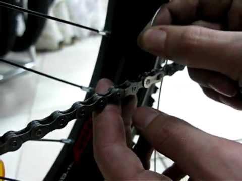 Снять замок цепи велосипеда принимаю. Интересная