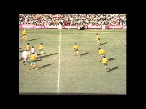Mike Burton sent off for England. England and Australia fighting