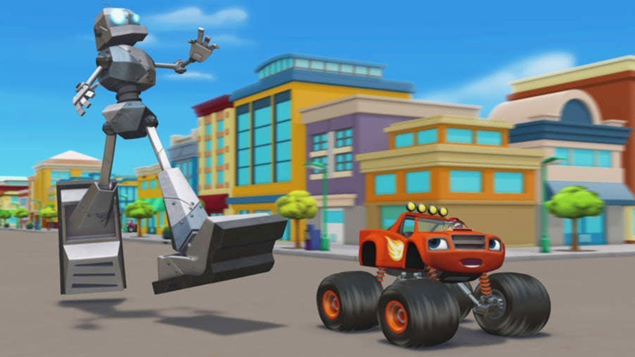 Blaze Monster Machines Animación De Dibujos Animados Nick Jr Le ...
