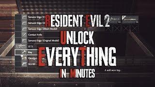 Easy Legit Unlock Rocket Launcher & Everything For Resident Evil 2 (Unlock Everything In Game)