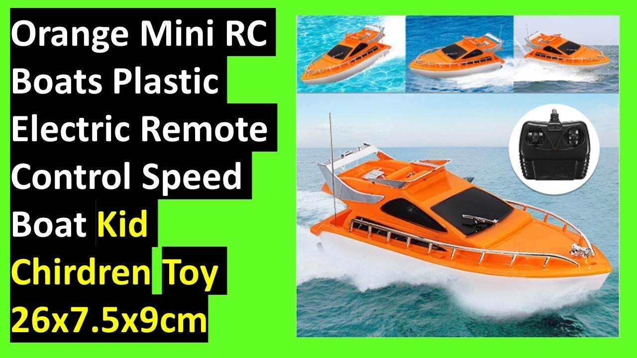 orange mini | rc boats|plastic electric | remote control speed boat [ kid  Chirdren Toy 26x7 5x9cm]!!