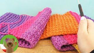 Szydełkowanie | zimowy szal z kolorowej włóczki Caron Cake Wolle | wprowadzenie dla początkujących