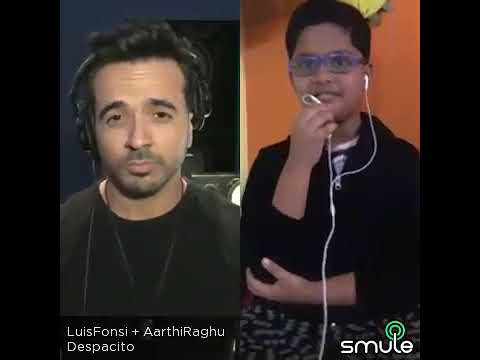 Despacito collab with Luis Fonsi through Smule