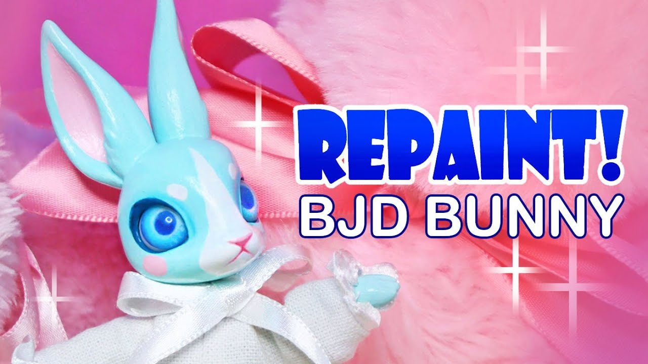 Repaint! Easter Bunny BJD (My first ball jointed doll from scratch!!) Custom OOAK Doll