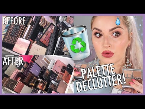NEUTRAL & WEARABLE Eyeshadow Palettes 馃敧 ORGANIZE AND DECLUTTER MY MAKEUP COLLECTION! 馃槒