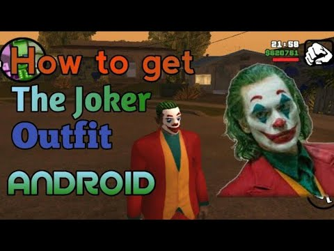 How To Get The Joker Clothes In GTA SA Android | The Joker Film 2019 | Joaquin Pheonix