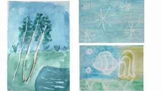 Рисовалки для детей Рисуем свечой и красками