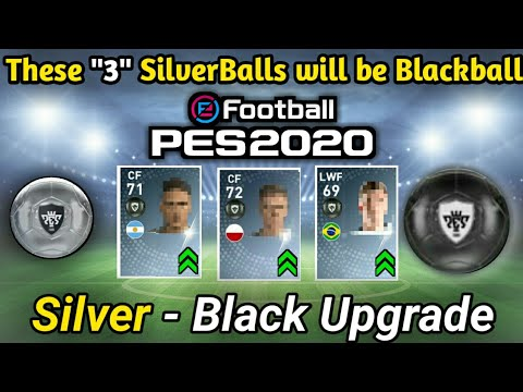 SILVER to BLACK Ball Player Upgrades Pes 2020 || ● Pes 2020 Blackball list  Mobile || Pes 2020 Black