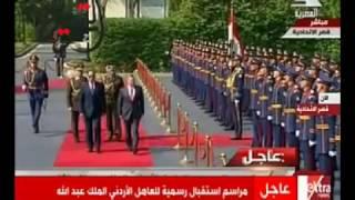 بالفيديو.. السيسي والعاهل الأردني يصلان قصر الاتحادية