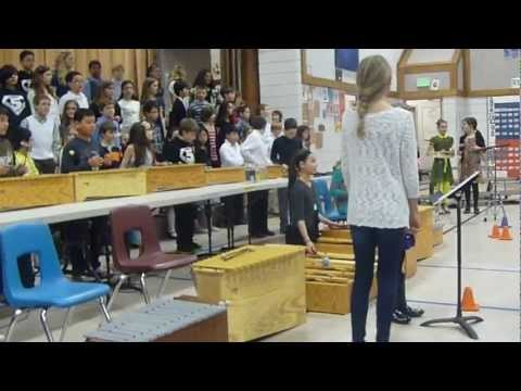 Mexican song - 5th grade, Mukilteo Elementary School 2/28/2013 (Everett, WA)