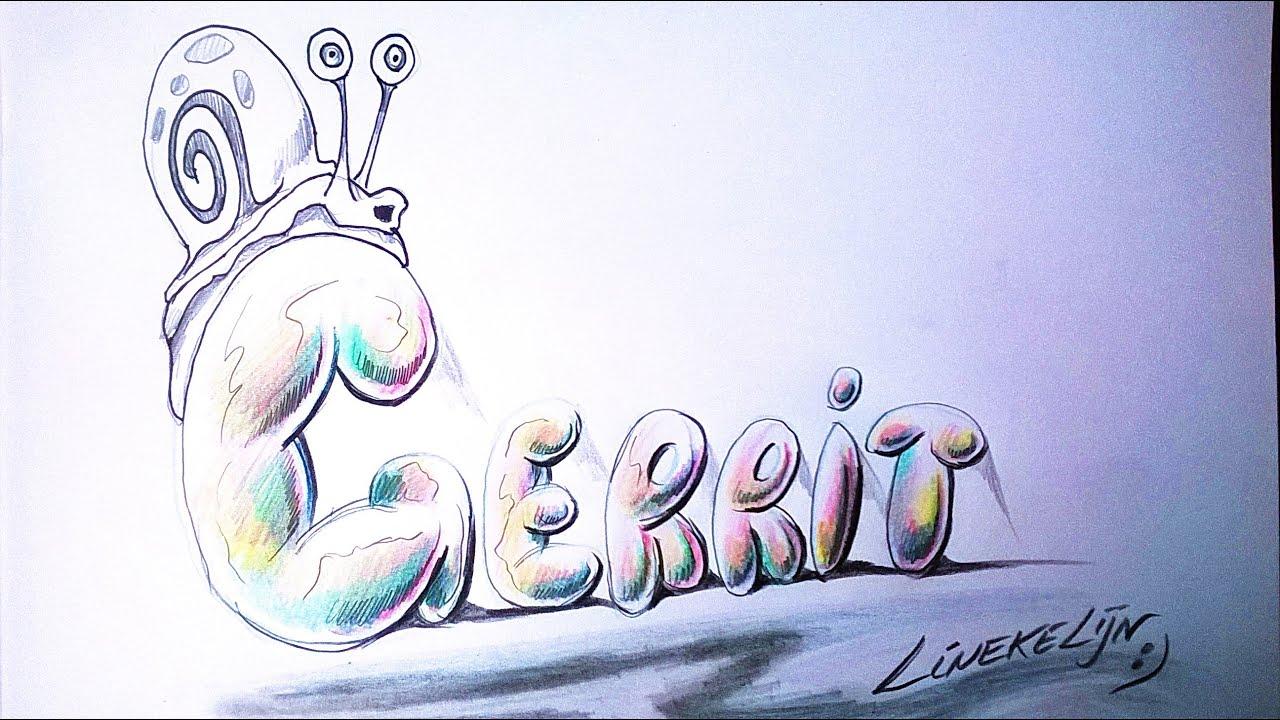 Hoe Teken Je Bubble Letters Gerrit Youtube