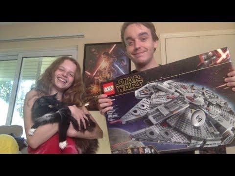 Lego Millennium Falcon Build w/ Forrest & Alyssa PART 2