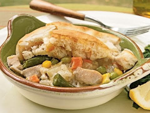 Biscuit Topped Chicken Potpie Recipe Youtube