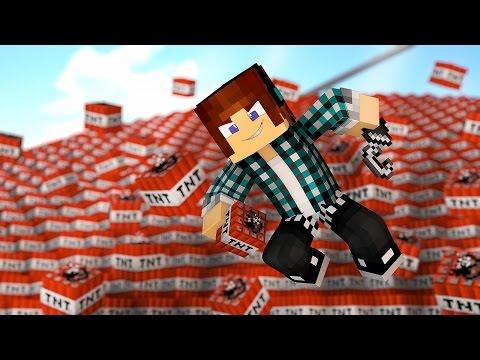 Minecraft: EXPLODINDO 1 MILHÃO DE TNT'S ( Minecraft Explosão Nuclear)