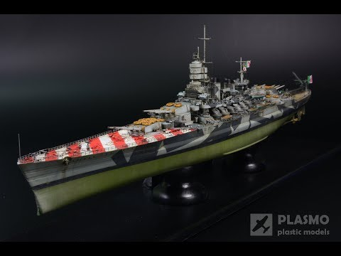 Battleship RN ROMA 1/700 trumpeter - step by step