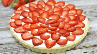 Fresh Strawberry Tart Recipe - Cheesecake Filling