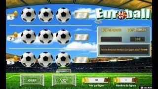 Jeux à gratter Euroball, ça gratte avec gain gagnant.