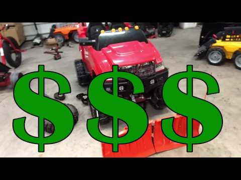 4x4 powerwheels build with V-plow 24 volt upgrade- Part 9 FINISHED!
