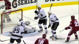 Keith Yandle goal. Los Angeles Kings vs Phoenix Coyotes Game 5 5/22/12 NHL Hockey