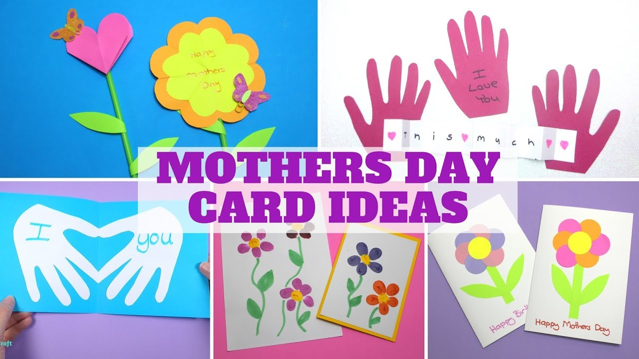 mothers day card ideas mothers day craft youtube. Black Bedroom Furniture Sets. Home Design Ideas