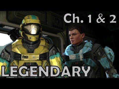 Halo: Reach | Missions 1 & 2  - Noble Actual & Winter Contingency | Legendary Solo Walkthrough