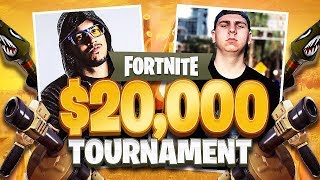 Fortnite $20,000 YouTuber Tournament! (Typical Gamer & Thiefs vs Vikkstar123 & Tinny)