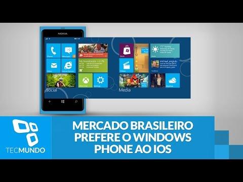 Windows Phone é o segundo sistema mobile mais popular no Brasil