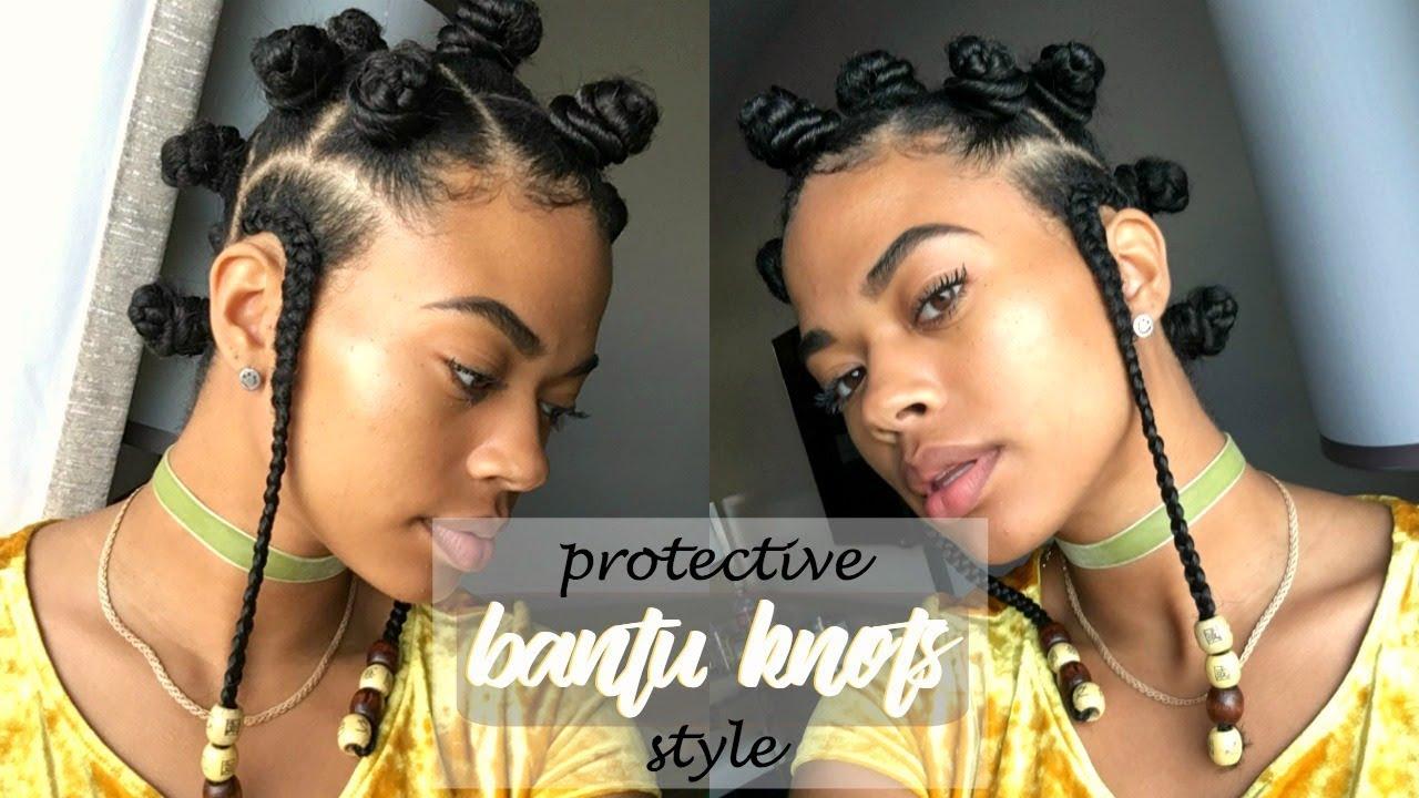 Twa Friendly Bantu Knot Protective Style Type 4 Natural Hair Youtube