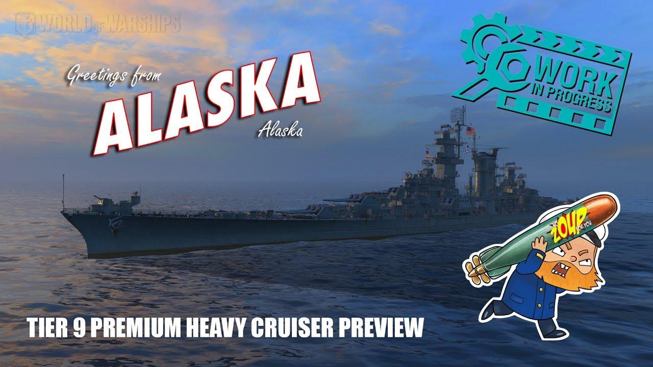World of Warships USS Alaska Tier 9 Premium Heavy Cruiser Preview