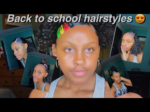 BACK TO SCHOOL HAIRSTYLES ONLY USING CLIPS thumbnail