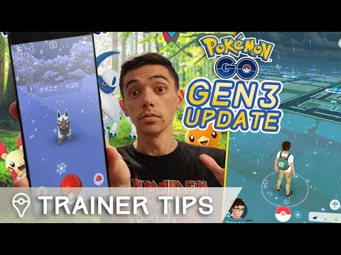 POKÉMON GO HUGE GEN 3 AND WEATHER UPDATE *GAMEPLAY FOOTAGE*