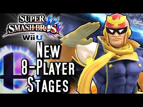 Super Smash Bros NEW STAGES Update (Wii U) 8-Player Gameplay & Analysis!