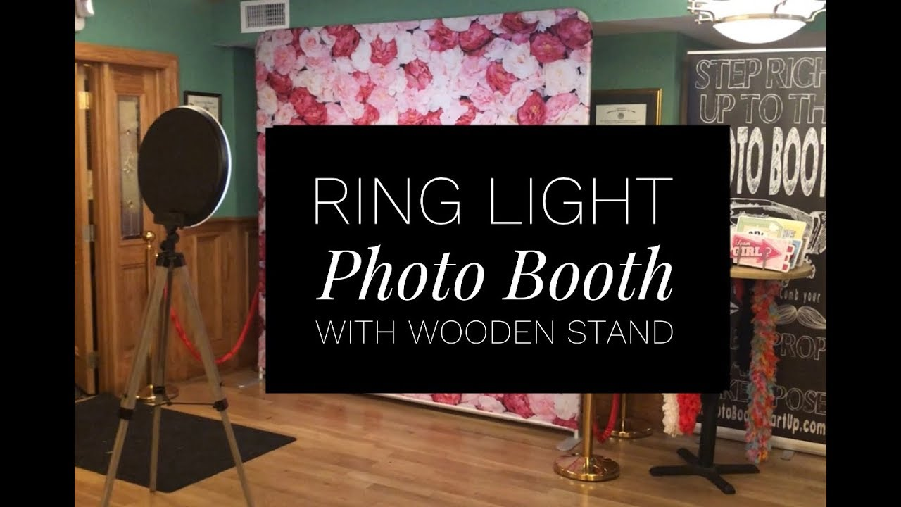 Ring Light Wooden Photo Booth
