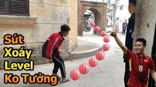 Thử Thách Bóng Đá sút xoáy cầu vồng như Quang Hải U23 Việt Nam bằng bóng nhựa mùa tết 2019