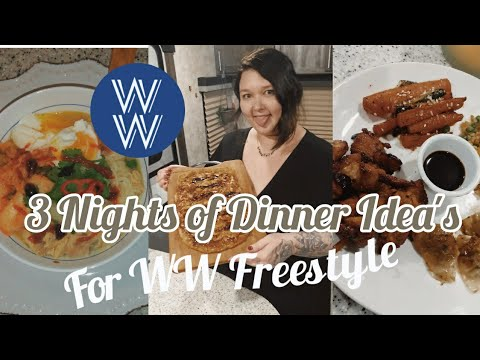 3 Nights Of Dinner Ideas For Weight Watchers | WW Freestyle Dinner Recipes