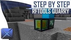 Step By Step: RFTools Quarry! (MC 1.10) || Start to Finish! || (Minecraft Tutorial)