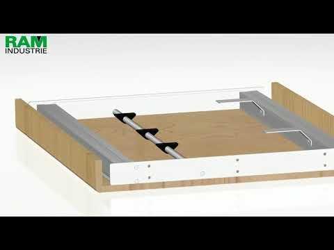 Telai Per Tavoli Allungabili.Telaio In Alluminio Per Tavolo Allungabile Ram Industrie Youtube