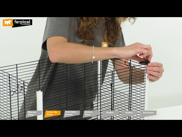 PIANO 3 - BIRD CAGE BY FERPLAST: ASSEMBLY INSTRUCTIONS