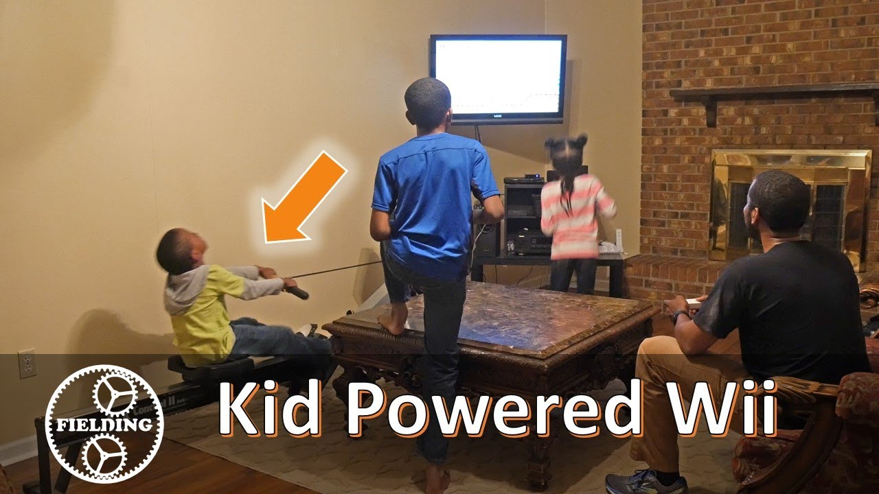 Dad creates brilliant invention to make his gamer kids exercise!