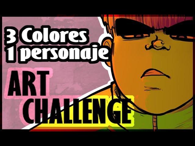 [SPEEDPAINT] 3 Colores 1 Personaje - Art Challenge / Marco T.