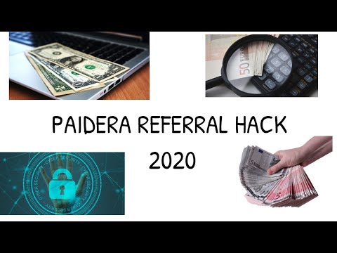 PAIDERA - Referral Hack 2020 ! Earn up to 20$ per day