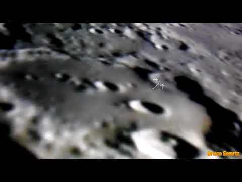 UFO's On The Lunar Surface Possibly One Satellite Sighting
