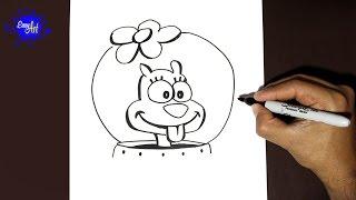Como dibujar a Arenita (Bob Esponja)| how to draw arenita (sponge bod)