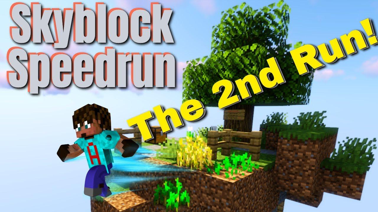 Minecraft but its a Skyblock Speedrun | S2 Minecraft Speedrun on Skyblock (Amazing builds)