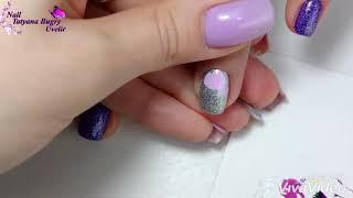 Цветы, дизайн ногтей, ускоренный видео урок